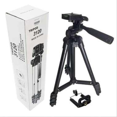 harga Unik Tripod 3120 Black Edition untuk Camera dan Handphone Free Holde U Murah Blibli.com