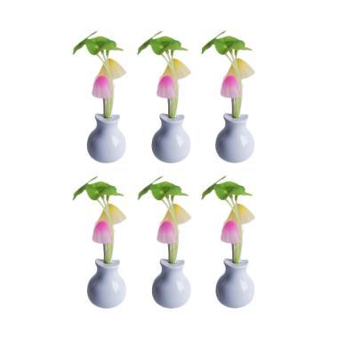Yangunik Paket 6 Buah Jamur Avatar New Lampu Tidur LED - Putih