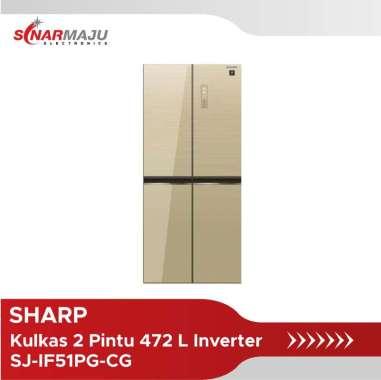 Kulkas Side By Side Sharp 472 Liter SJ-IF51PG-CG Inverter Plasmacluster