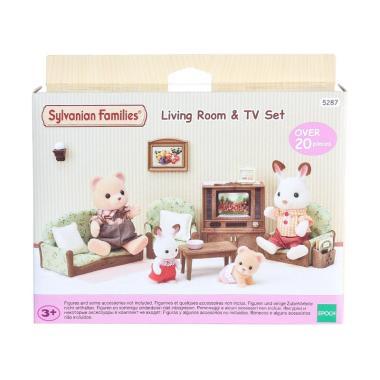 Sylvanian Families Living Room & TV Set Mainan Anak