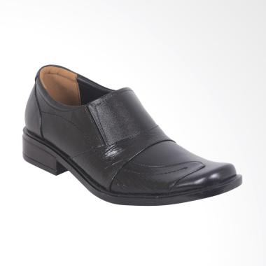WIN Leather Montecarlo Premium Kuli ... ofel Pria - Hitam [SP-49]