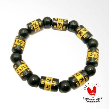 Vee Mantra Budha Model Tabung Bola Terapi Kesehatan Gelang Giok