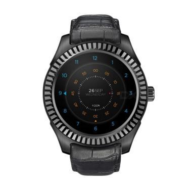Xwatch D7 Strap Kulit Smartwatch - Hitam