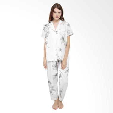 Madeleine's Jessamine Long Setelan Baju Tidur Wanita - White