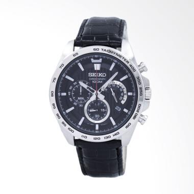 Seiko Chronograph SSB305P1 Leather Strap Jam tangan Pria -