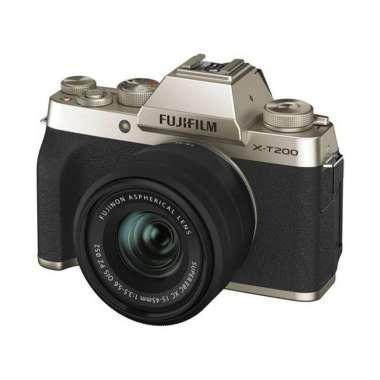harga Fujifilm X-T200 Kit XC 15-45mm / Fujifilm XT200 / Fuji XT200 Champagne Gold Blibli.com