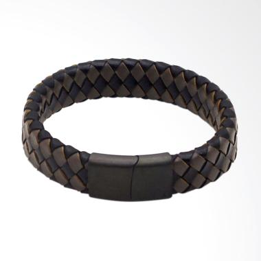 VERNYX Vernyx Wide Square Gelang Pria - Black Brown [GLT6565]
