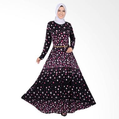 Jfashion Maxi Tangan Panjang Corak  ...  Wanita - Violin Dot Pink