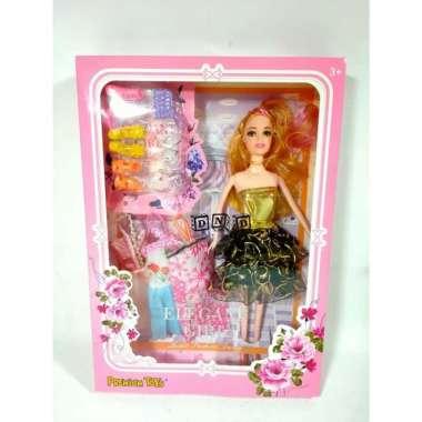 harga Mainan Anak Perempuan Boneka Barbie Elegant Girl Sepatu Baju Aksesoris Variasi Multicolor Blibli.com