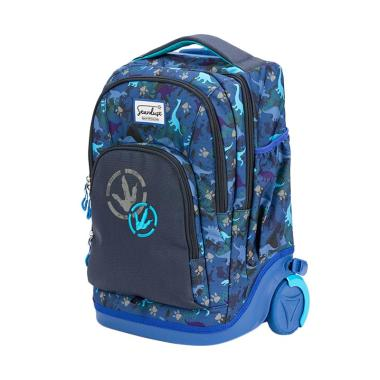 Stardust by Okiedog 88013 Dinosaur 2 In 1 Backpack And Trolley - Blue