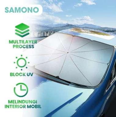 harga SAMONO SU001 Payung Lipat Pelindung Kaca Depan Mobil Anti UV Sun Shield Sinar Umbrella Matahari Blibli.com