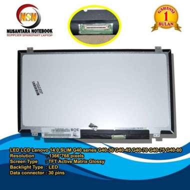 harga Promo Led Lcd Lenovo 14.0 Slim 30 Pin Lenovo Series G40-30 G40-45 G40-80 G40 Blibli.com