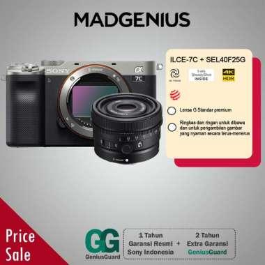 harga SONY Alpha SONY Alpha A7C Mirrorless Digital Kamera [Body Only] / ILCE-7C Bundling SEL40F25G Silver Blibli.com
