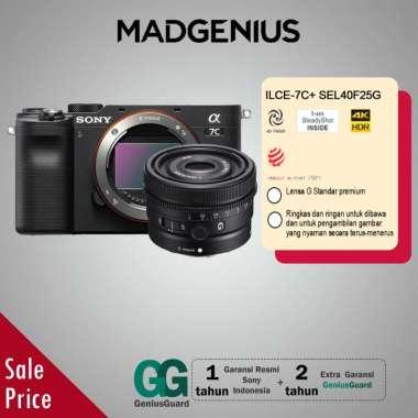 harga SONY Alpha SONY Alpha A7C Mirrorless Digital Kamera [Body Only] / ILCE-7C Bundling SEL40F25G Black Blibli.com