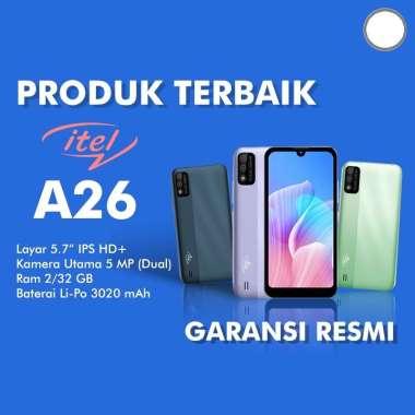HP ITEL A26 Smartphone [2 GB/ 32 GB] Garansi Resmi Purple