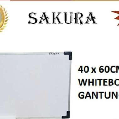 harga Papan tulis magnetic / whiteboard magnet sakura ukuran 40 x 60 Blibli.com