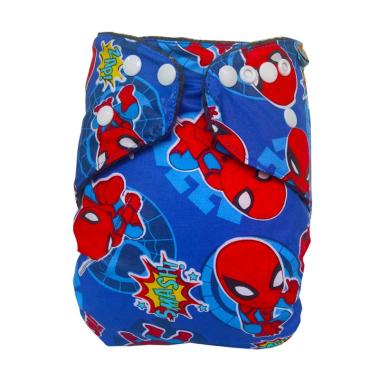 FAAZA Store Clodi 1 Cover with 2 Insert Cloth Diaper Inner Charcoal  Spiderman Popok Kain