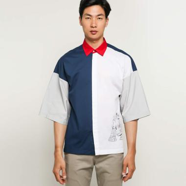 Amot Syamsuri Star Wars Muda Print Shirt Pria [R2D2]
