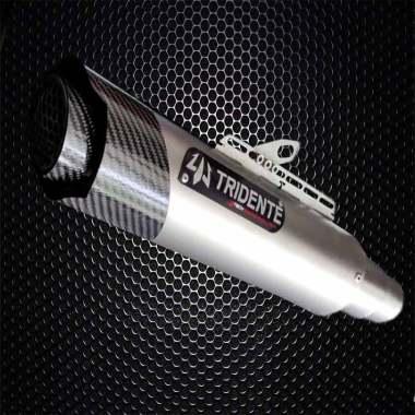 harga 3Tech Racing Evolution Tridente F20 S Knalpot Motor for Yamaha Mio Z - Titan Grey [3 Suara] Blibli.com