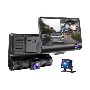 harga E-ACE Dashcam Kamera CVTV Mobil [Perekam/ 3 Lensa/ 1080p/ Full HD/ G Sensor/ 4 Inch] Blibli.com