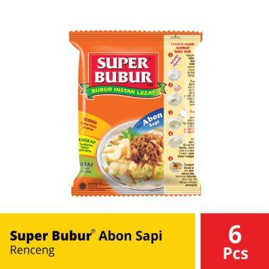 harga Super Bubur Abon Sapi Renceng 6 Pcs @49 Gr Blibli.com