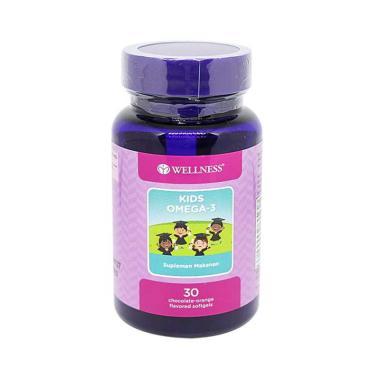 harga Wellness Kids Omega-3 Rasa Cokelat Orange Suplemen Kesehatan [30 Softgel] Blibli.com