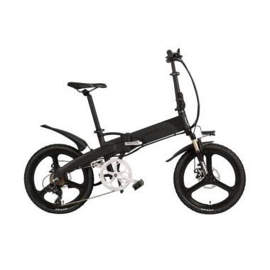 harga Lankeleisi G660 Smart Moped Luxury Edition Sepeda Elektrik Lipat - Black Gray [48V/ 10.4AH] Blibli.com