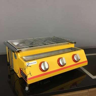 harga Cookmaster BBQ Grill 3 Burner / Panggangan Gas Roaster 3 Tungku CM G833 Stainless Steel Blibli.com