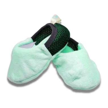 harga Den n Jes ES006 Baby Shoes Newborn Sepatu Kain Lembut Bayi 0-12 bulan Hijau muda Blibli.com