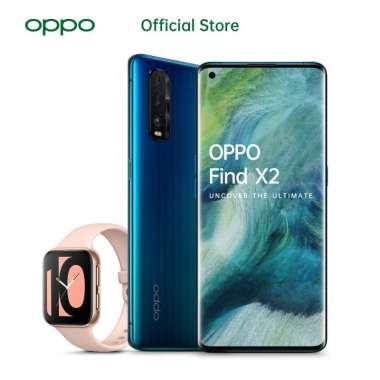 OPPO Find X2 Smartphone [256 GB/ 12 GB] - Free OPPO WATCH Blue Wave + Pink OPPO Watch