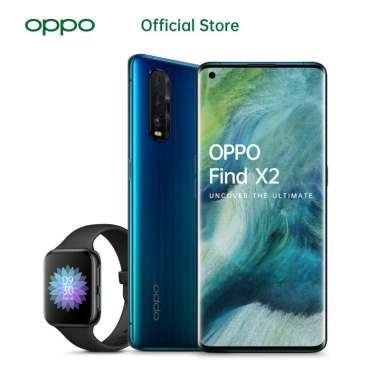 OPPO Find X2 Smartphone [256 GB/ 12 GB] - Free OPPO WATCH Blue Wave + Black OPPO Watch