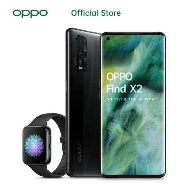 OPPO Find X2 Smartphone [256 GB/ 12 GB] - Free OPPO WATCH Dark Sea + Black OPPO Watch