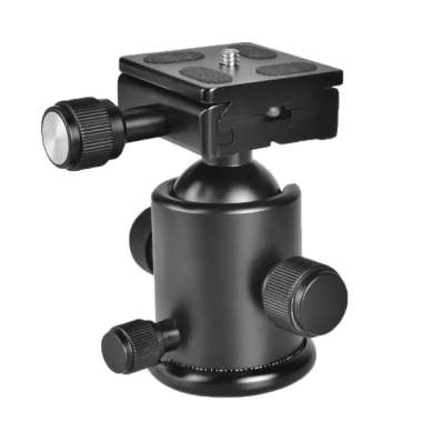 harga 360° Swivel Camera Tripod Ball Head Ballhead Quick Release Plate 1/4