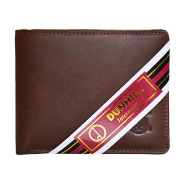 Dunhill 176 Kulit Dompet Pria - Coklat Pull Up