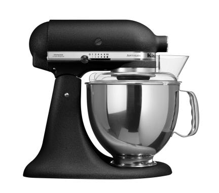 KitchenAid 5KSM150PSEBK Standing Mixer - Midnight Black Krinkle