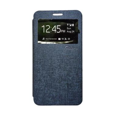 Galeno Flip Cover Casing for Oppo F1 Plus - Biru Dongker