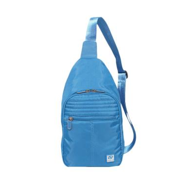Navy Club 5552 Tas Selempang Travel - Biru Muda Blue