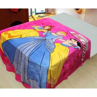 NB Princess Royal Family Selimut Bulu - Pink [150x200 cm]