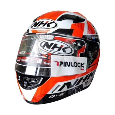 NHK GP 1000 Ultra X-vision Helm Full Face - White Orange