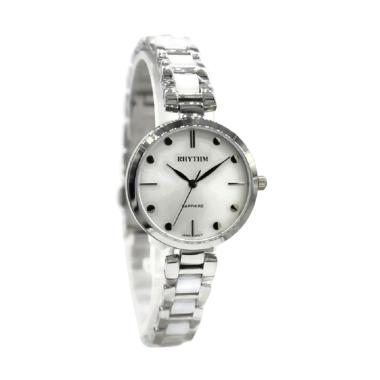 Rhythm LE1611S01 Jam Tangan Wanita - Silver White