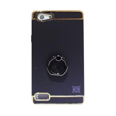 Fashion Selular 3 In1 Hradcase with Casing Ring for Oppo Neo 7 - Black