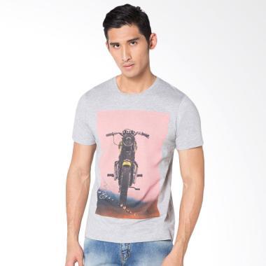 Svperbia Retro Bike TShirt Pria - Grey