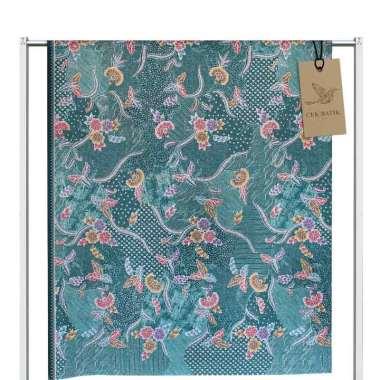 Cek Batik Motif Modern 3 Bunga Warna Manis Kain Batik - Tosca