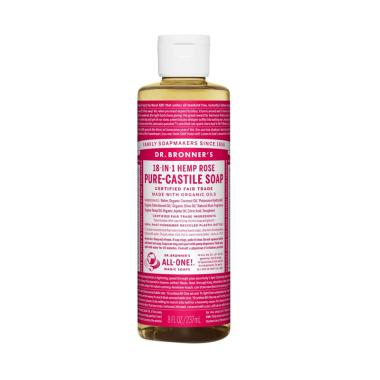 Dr. Bronners Rose Pure Castile Soap [237 mL]