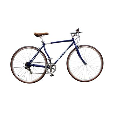 London Taxi 700C 6 Speed Sepeda Road Bike - Navy