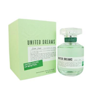 Benetton United Live Free For Women EDT Parfum Wanita [80 ML]