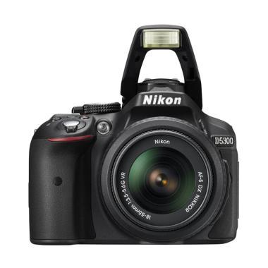 Nikon D5300 Lens Kit 18-55mm VR II - 24.2 MP Kamera DSLR - Hitam