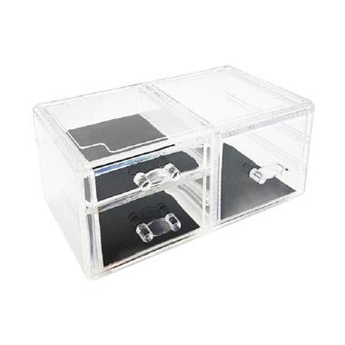 Acrylic Box AKD407 Makeup Organizer [3 Drawer]