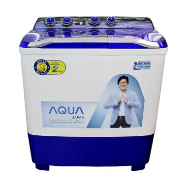 Aqua Sanyo QW1080XT Hijab Series Mesin Cuci [2 Tabung] Royal Blue/White