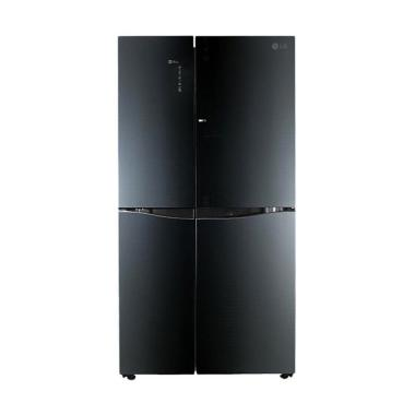 LG GC-M247UGBV-BL Refrigerator Kulkas - Black [Side by Side]